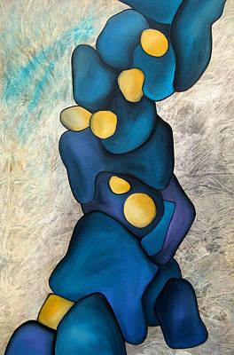 Abstract Painting - Bones by Tom Fedro - Fidostudio