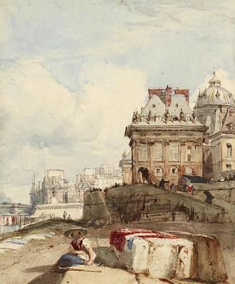 P.r Painting - Bonington The Institut Paris by MotionAge Designs