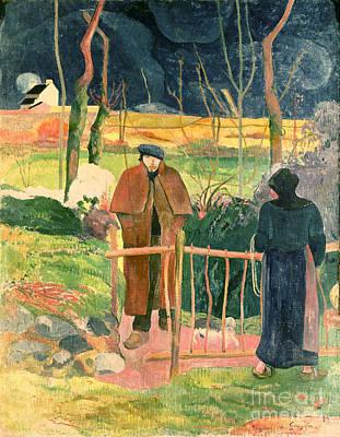 Bonjour Monsieur Gauguin Print by Paul Gauguin