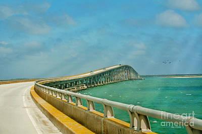 Bonner Bridge - Highway 12 Nc Print by Anne Kitzman