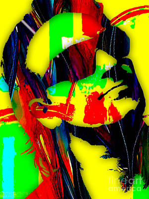 U2 Mixed Media - Bono Collection by Marvin Blaine