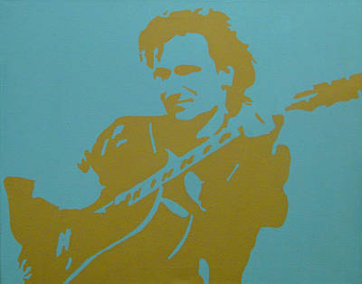 U2 Painting - Bono by Doran Connell