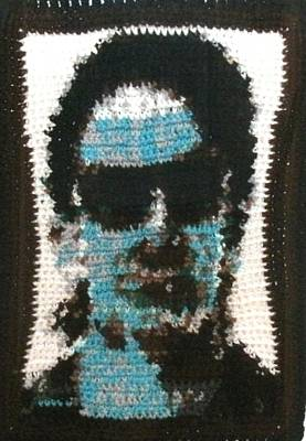Bono Fiber Art Original by Cathy Marina