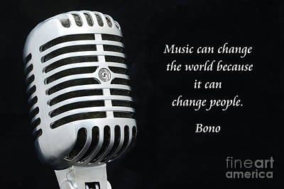 Bono Photograph - Bono On Music by Paul Ward