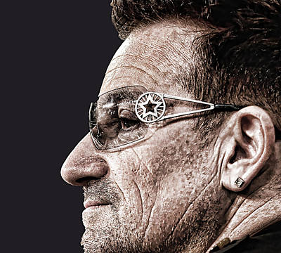 Bono Digital Art - Bono by Riccardo Zullian