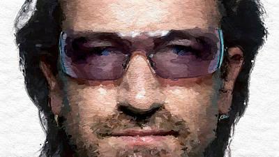 Bono Digital Art - Bono U2 by Iguanna Espinosa
