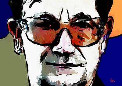 Bono Painting - Bono U2 by Vya Artist