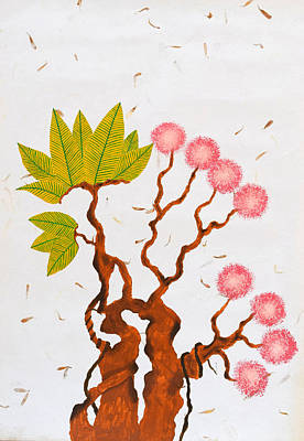 Tree Roots Painting - Bonsai Series No. 5 by Sumit Mehndiratta