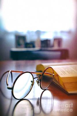 Library Photograph - Book And Glasses by Carlos Caetano