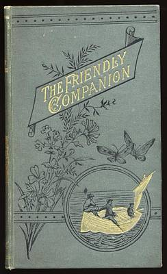 Friendly Drawing - Book Cover. The Friendly Companion by Vintage Design Pics