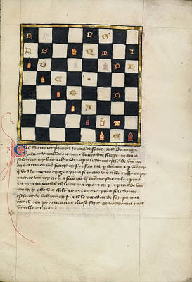 Board Game Painting - Book Of Chess Problems by Celestial Images