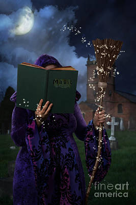 Grave Photograph - Book Of Magic Spells by Amanda And Christopher Elwell
