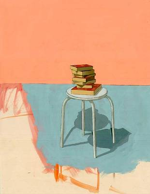 Interior Still Life Painting - Books  by Adrienne Romine