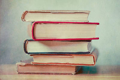 Books Love Print by Violet Gray