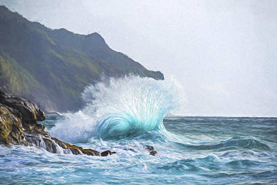 Mountain Digital Art - Booming Swell II by Jon Glaser