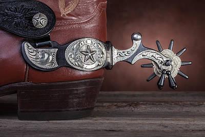 Boot Heel With Texas Spur Print by Tom Mc Nemar