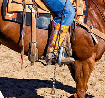 Photograph - Boot, Spur, Saddle by David Wagner