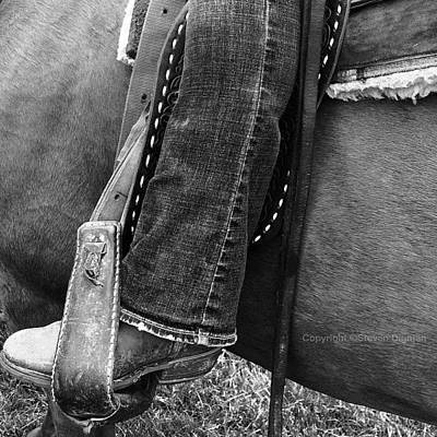 Horse Photograph - Boot Stubble   by Steven  Digman