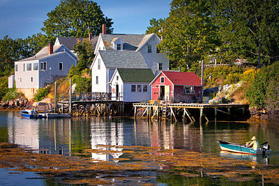 Boothbay  Maine Print by Emmanuel Panagiotakis