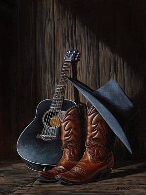 Cowboy Boots Painting - Boots by Antonio F Branco