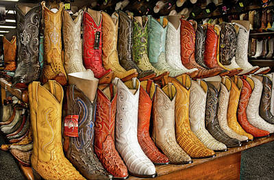 Boots In Every Color Print by Brenda Bryant