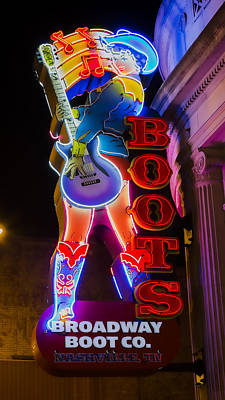 Ryman Auditorium Photograph - These Boots Are Made For Walking by Stephen Stookey