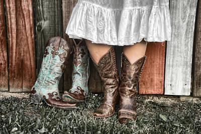 Boots X 2 Print by Sharon Popek