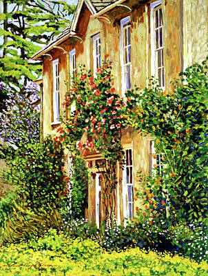 South Of France Painting - Bordeaux Garden House by David Lloyd Glover