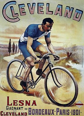Bike Races Photograph - Bordeaux To Paris On A Cleveland Bicycle  1901 by Daniel Hagerman