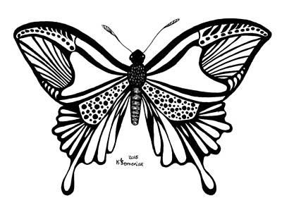 Antennae Drawing - Bordonua Rain by Kayleigh Semeniuk