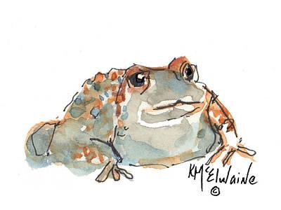 Boreal Chorus Frog Print by Kathleen McElwaine