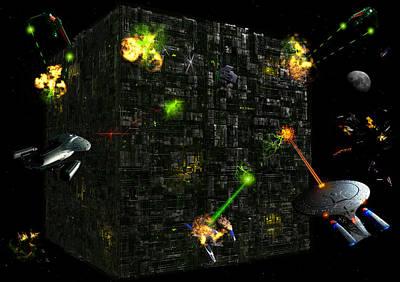 Borg Attack Print by Joseph Soiza