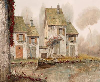 Fall Painting - Borgo Nebbioso by Guido Borelli