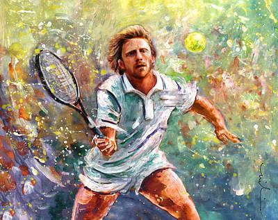 Wimbledon Painting - Boris Becker by Miki De Goodaboom