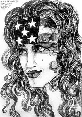 Born 4th Of July. Patriotic Girl Image. Sofia Goldberg Print by Sofia Goldberg