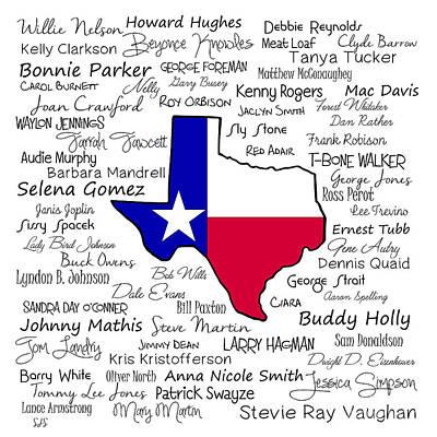Will Jones Digital Art - Born In Texas by Shirley Stalter