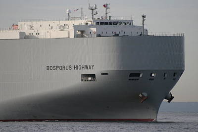 Car Carrier Photograph - Bosporus Highway by Christopher Kirby