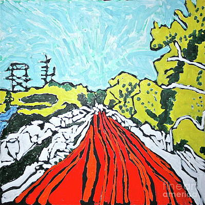 Grande Painting - Bosque Road by Ray  Petersen