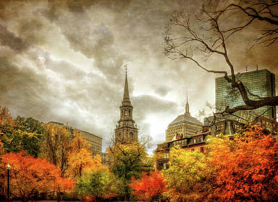 Boston Autumn Splendor Print by Joann Vitali
