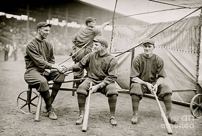 Batting Photograph - Boston Baseball Players   Gowdy, Tyler, Connolly by American School