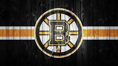 Boston Bruins Barn Door Print by Dan Sproul
