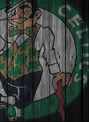 Basketball.boston Celtics Photograph - Boston Celtics Wood Fence by Joe Hamilton