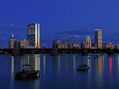 Prudential Center Photograph - Boston City Lights by Juergen Roth