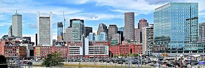 Boston Downtown View Print by Frozen in Time Fine Art Photography