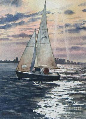 Painting - Boston Harbor by Karol Wyckoff