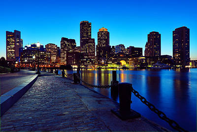 Boston Harbor Walk Print by Rick Berk