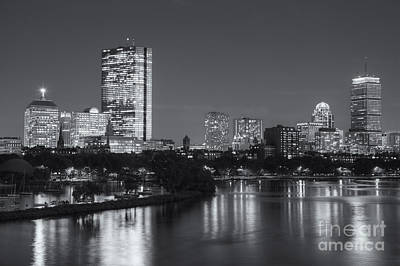 Prudential Center Photograph - Boston Night Skyline V by Clarence Holmes
