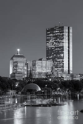 Boston Night Skyline Viii Print by Clarence Holmes