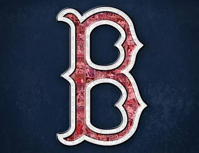 Boston Red Sox Print by Fairchild Art Studio