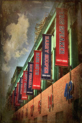 Boston Red Sox Photograph - Boston Red Sox Retired Numbers - Fenway Park by Joann Vitali